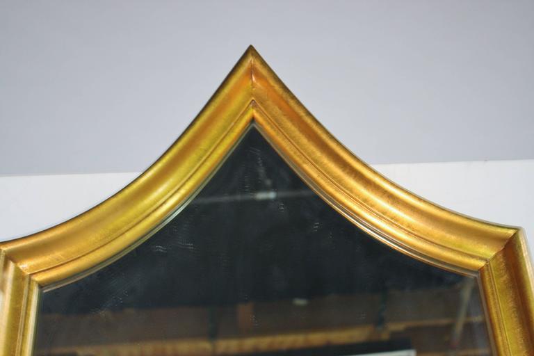 Wood Hollywood Regency Gold Gilt Mirror For Sale