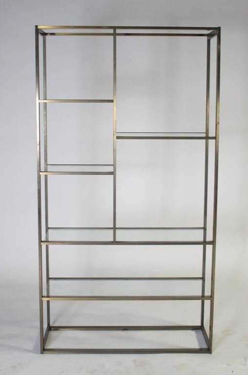 Bronze and Glass Etagere Attributed to Milo Baughman 2