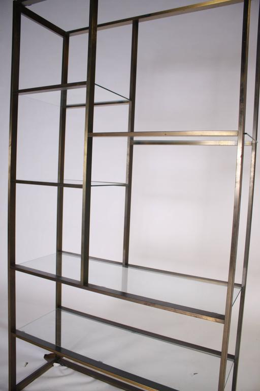 Bronze and Glass Etagere Attributed to Milo Baughman For Sale 2