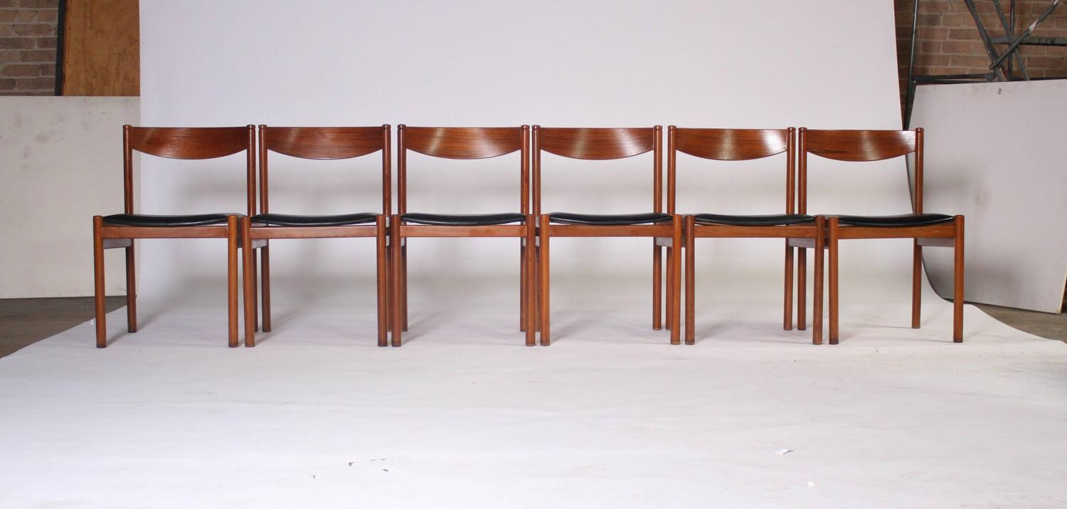 danish modern expandable dining table and chairs for sale