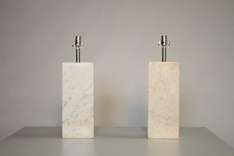 Pair of Marble Lamps by Nessen 2