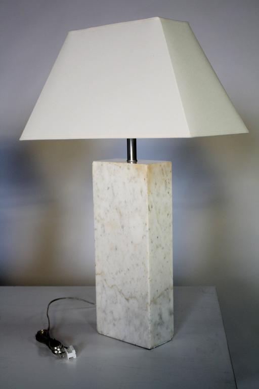 Pair of Marble Lamps by Nessen 5