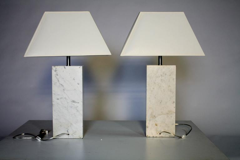Pair of Marble Lamps by Nessen 3