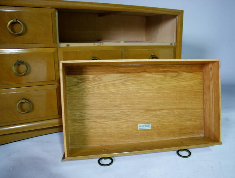 T.H. Robsjohn-Gibbings Five-Drawer Dresser In Excellent Condition For Sale In Chicago, IL