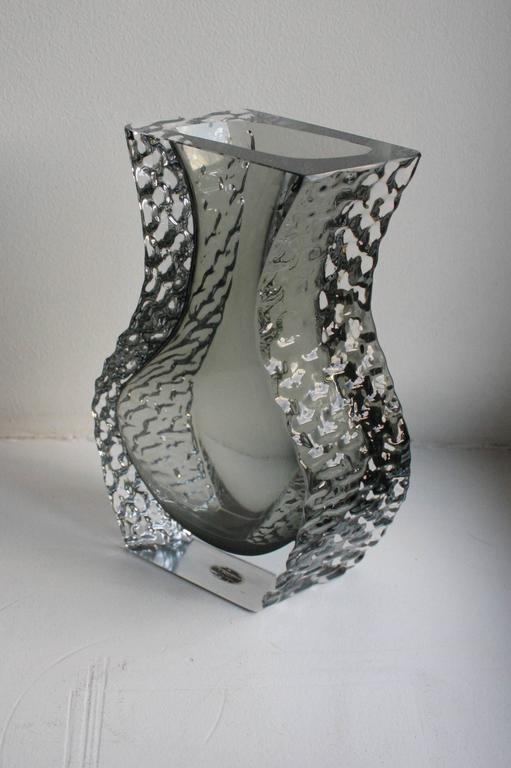 Mandruzzato Murano Art Glass Vase by Cavagnis For Sale 1