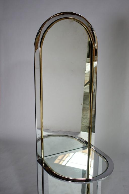 Pace Collection Entryway Free Standing Racetrack Mirror In Excellent Condition For Sale In Chicago, IL