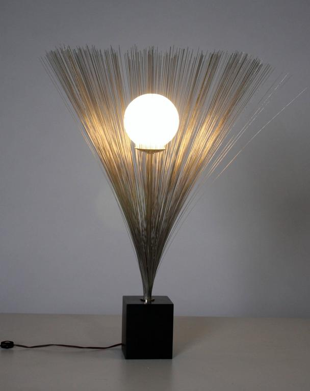 Harry Bertoia Style Spray Lamp In Excellent Condition For Sale In Chicago, IL