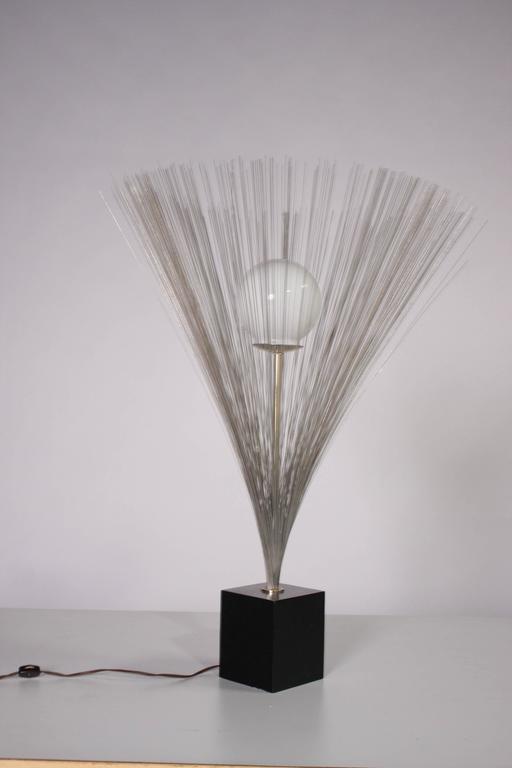 Metal Harry Bertoia Style Spray Lamp For Sale