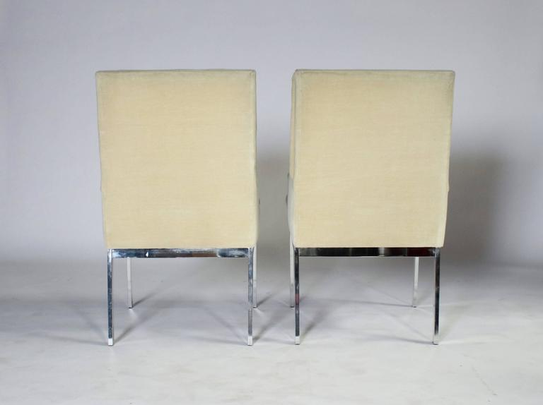 Polished Milo Baughman DIA Dining Chairs Set of Eight For Sale