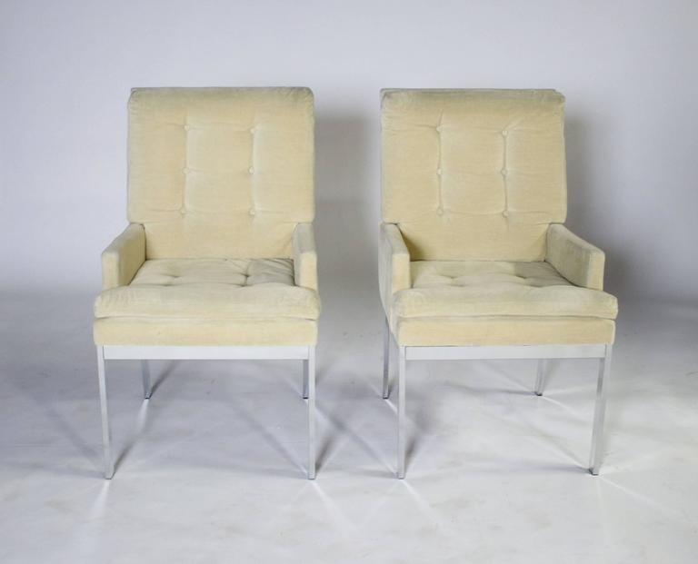 Milo Baughman DIA Dining Chairs Set of Eight In Good Condition For Sale In Chicago, IL