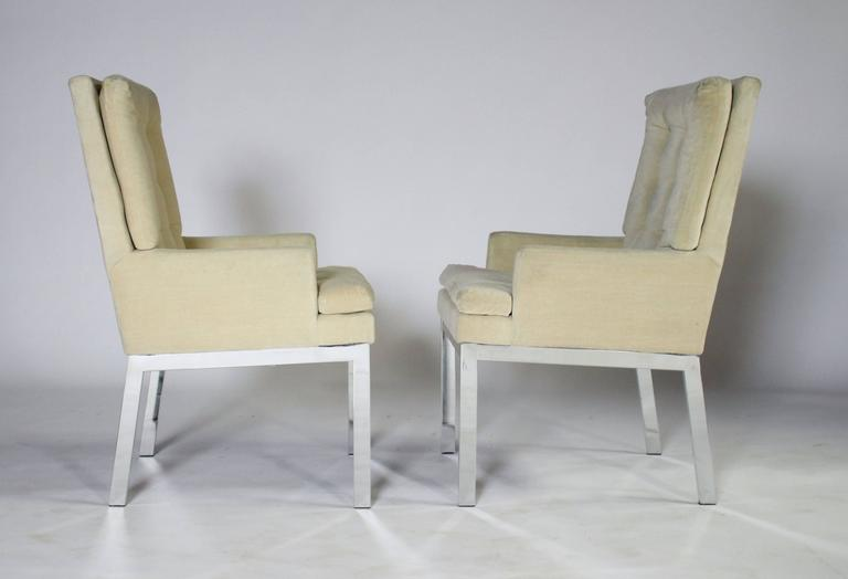 Late 20th Century Milo Baughman DIA Dining Chairs Set of Eight For Sale