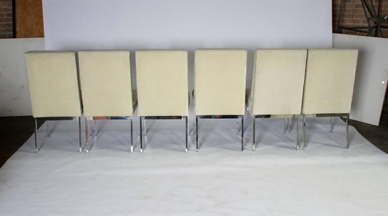 Mid-Century Modern Milo Baughman DIA Dining Chairs Set of Eight For Sale