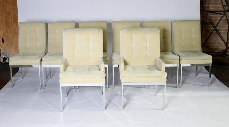 Milo Baughman DIA Dining Chairs Set of Eight For Sale 1