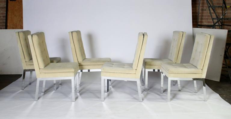 American Milo Baughman DIA Dining Chairs Set of Eight For Sale