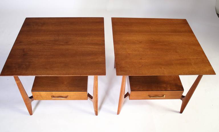 John Stuart Single Drawer End Tables Nightstands For Sale 2