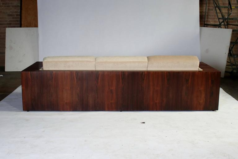 Late 20th Century Milo Baughman Rosewood Case Sofa for Thayer Coggin For Sale