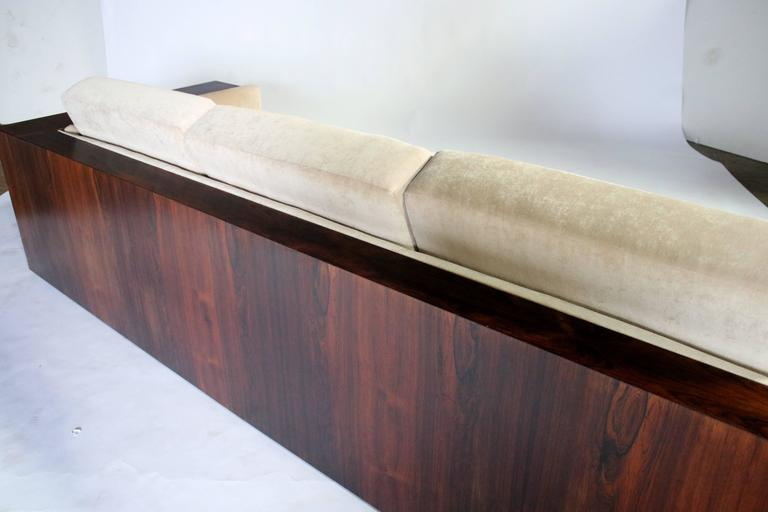 Milo Baughman Rosewood Case Sofa for Thayer Coggin For Sale 1