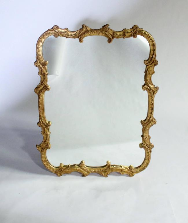 Antique georgian style gold mantel mirror at 1stdibs for Mantel mirrors