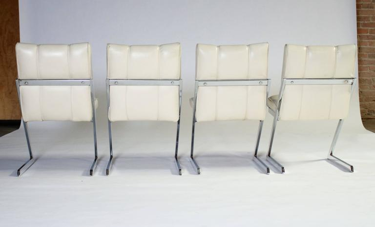 "Style of Milo Baughman ""Z- Frame"" Dining Chairs, Set of Four, by Contempo 4"