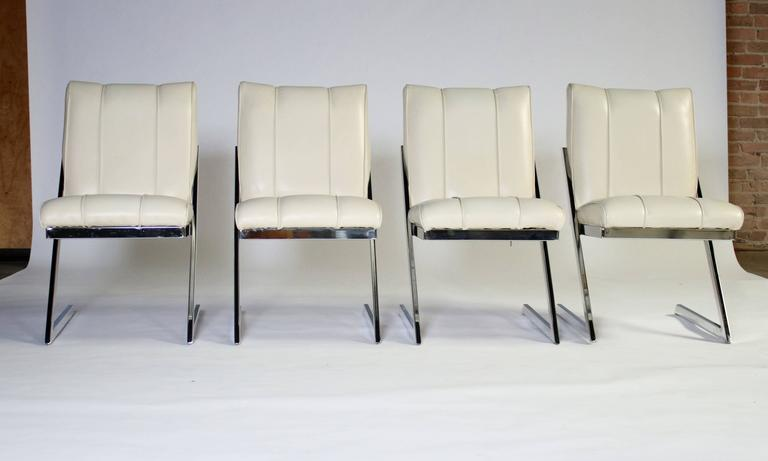 "Style of Milo Baughman ""Z- Frame"" Dining Chairs, Set of Four, by Contempo 2"