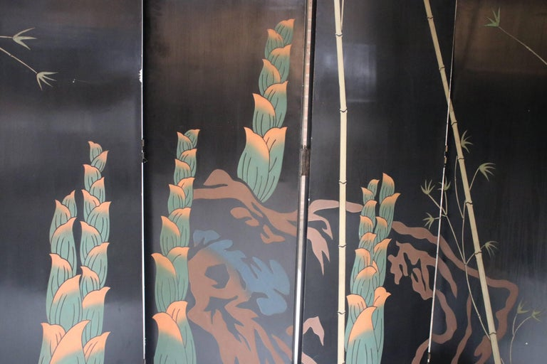 12-Panel Coromandel Double Sided Chinese Screen For Sale 2