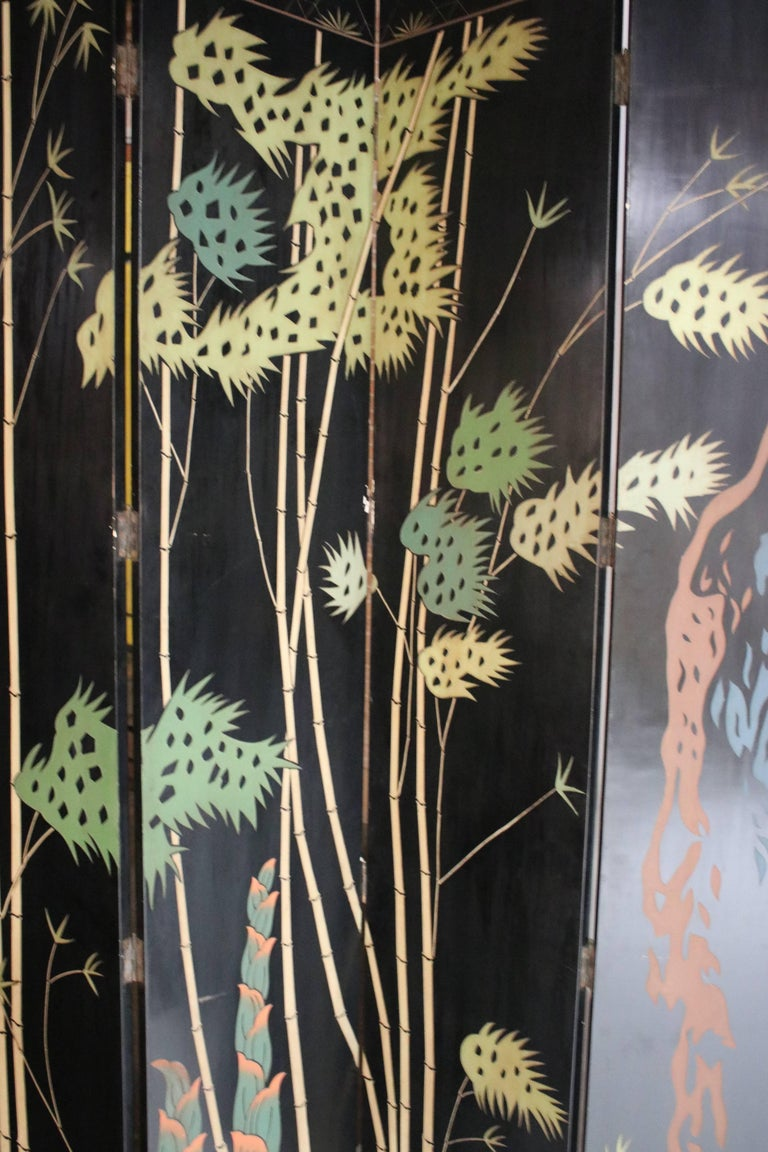12-Panel Coromandel Double Sided Chinese Screen For Sale 3
