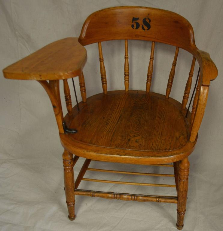 Early 20th Century Classroom School Chairs Of Oak Set Of Seven At 1stdibs