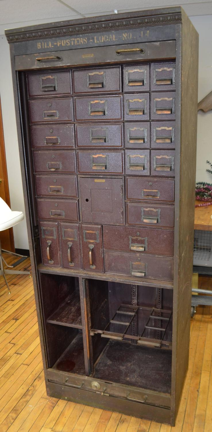 Storage steel unit file cabinet circa 1930s from for 1930s kitchen cabinets for sale