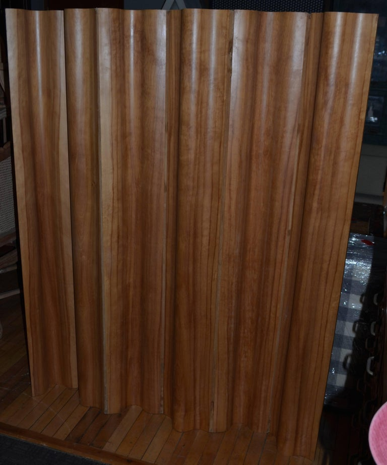 Herman Miller - Eames Six Panel, Calico Ash Screen, circa 1950s In Good Condition For Sale In Madison, WI