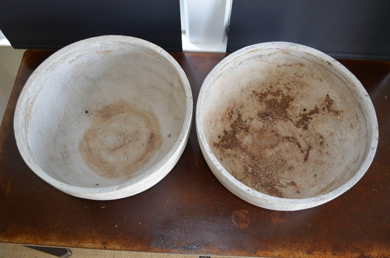 Mid-20th Century Willy Guhl Planter of Concrete Composite, Pair Available For Sale