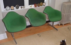 Charles and Ray Eames Tandem Three-Shell Upholstered Seating for Herman Miller