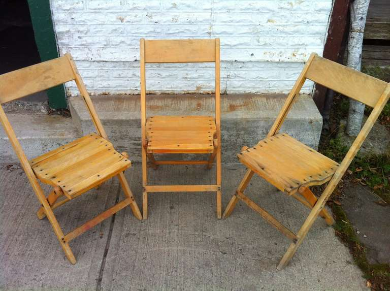 set of 4 vintage wood folding chairs 45 sets available or 140 - Old Folding Chairs. Check This Old Wood Folding Chairs Antique
