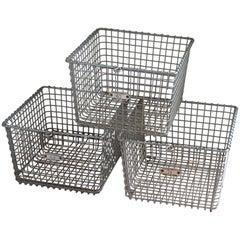 Storage Baskets from Midcentury Swim Basket Unit in Pool Locker Room