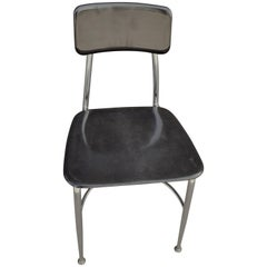 Midcentury Heywood-Wakefield Woodite Black School Chair; 40 chairs available