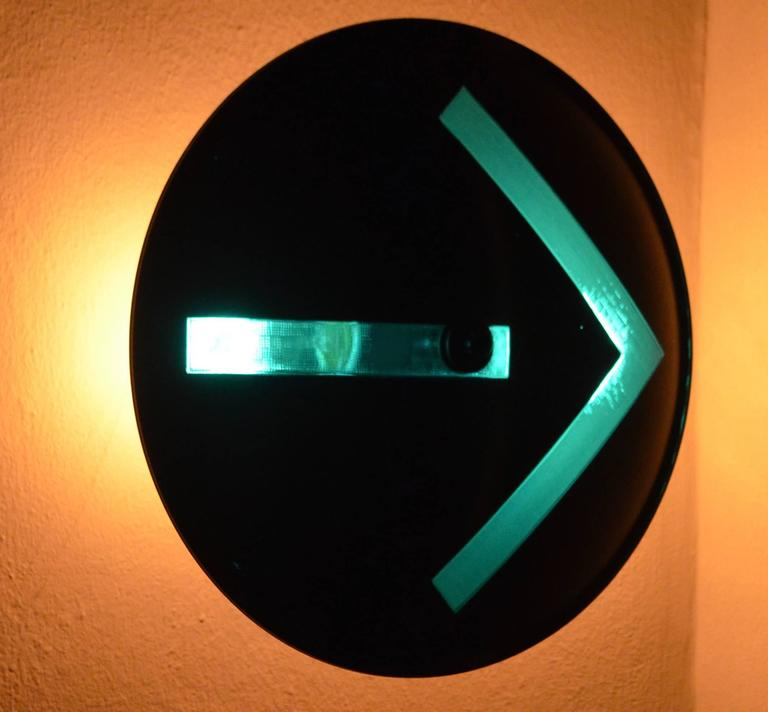 Traffic Signal Light Turn Arrow As Wall Sconce In Yellow