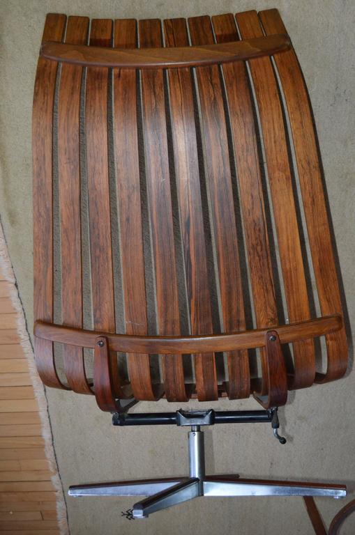 Hans Brattrud With Hove M 246 Bler Swivel Lounge Rosewood