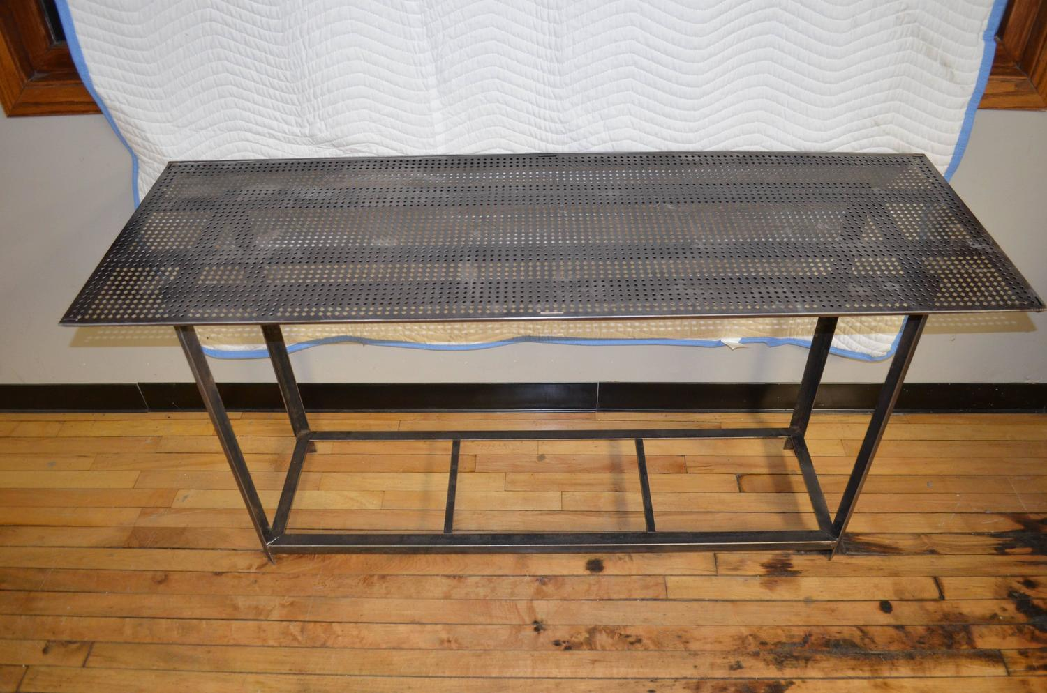 Industrial Work Table With Steel Grate Top For Sale At 1stdibs