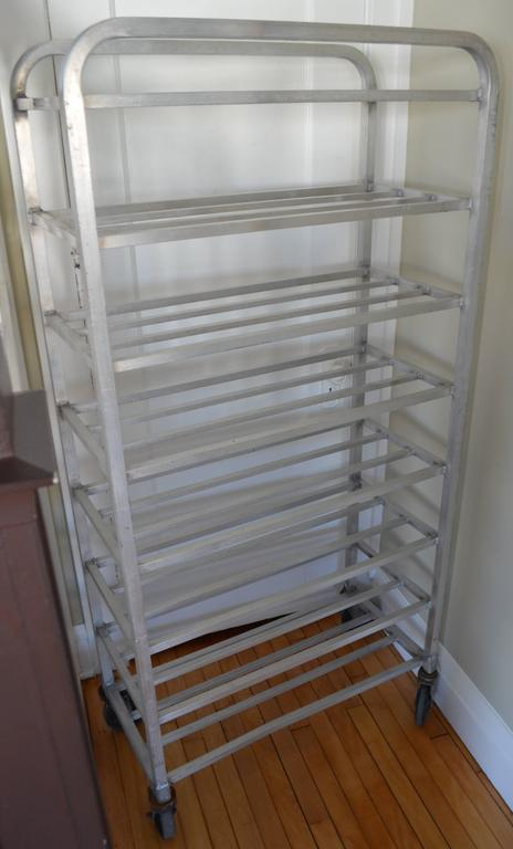 Aluminum storage rack on wheels for bathroom kitchen - Bathroom storage on wheels ...