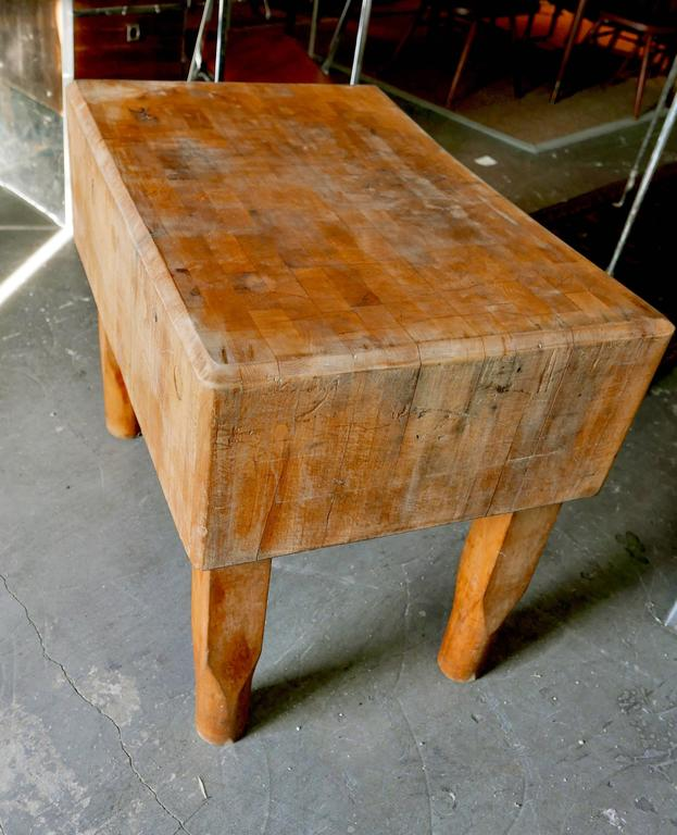 butcher block from new york meat market early 1900s at