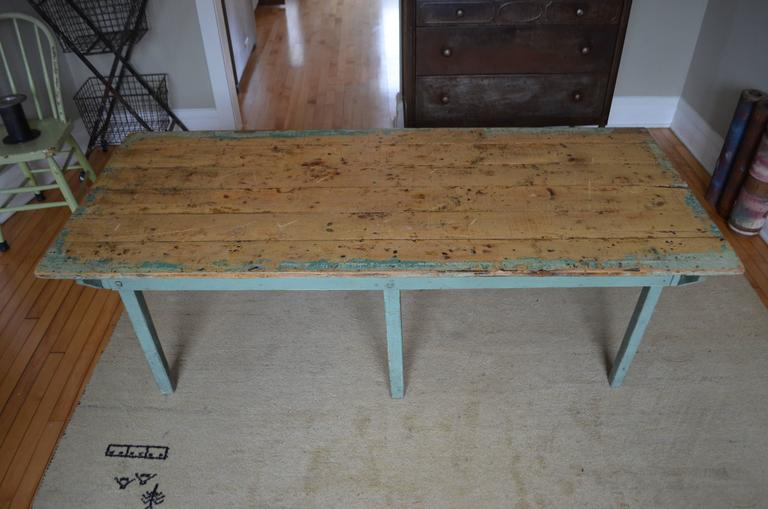 American Childrenu0027s Furniture: Vintage Wooden Table From Midwestern  Schoolhouse For Sale
