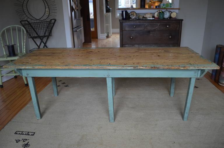 Children's Furniture: Vintage Wooden Table From Midwestern