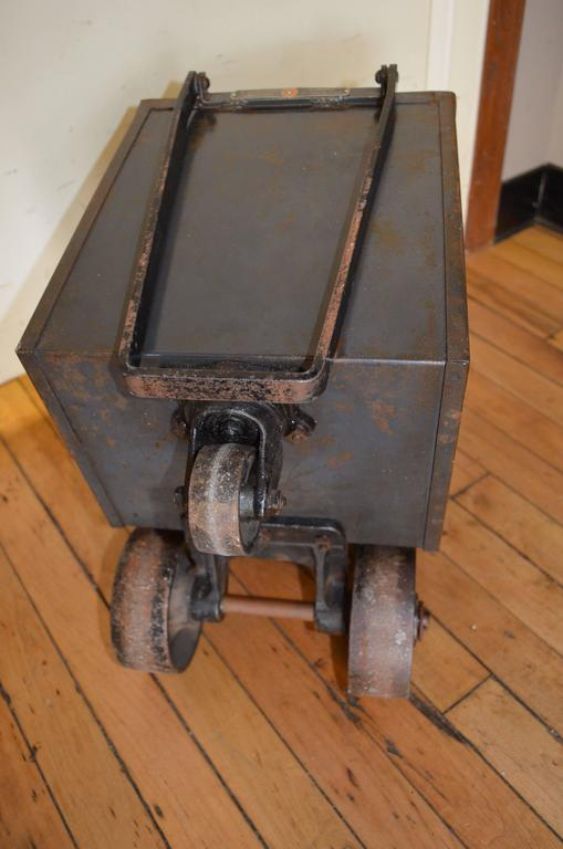 Steel Coal Cart On Wheels As Mobile Planter At 1stdibs