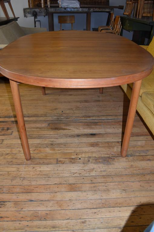 Danish Mid-Century Dining Table of Teak with Two Inserts