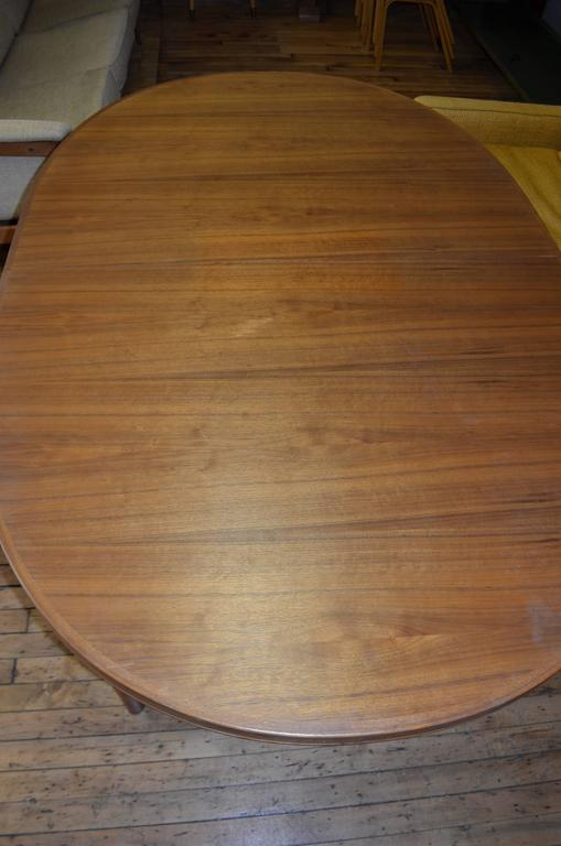 Mid-Century Modern Mid-Century Dining Table of Teak with Two Inserts