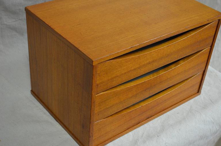 Great Jewelry/Letter Box Of Teak Designed By Arne Vodder, Made In Sweden 3
