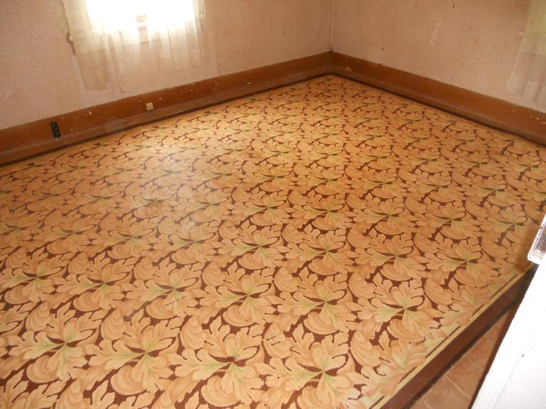 Linoleum Rug Carpet Circa 1940s Three Available In