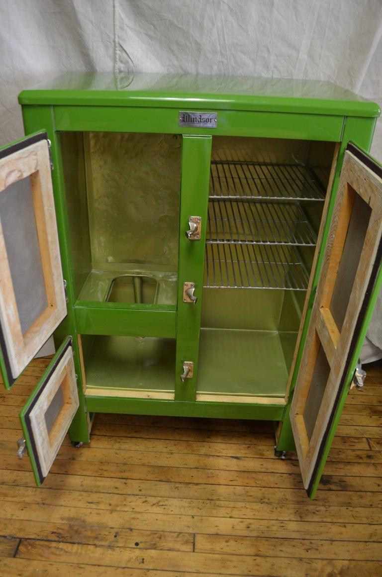 Green Ice Box Refrigerator Bar By Windsor Circa 1920s At