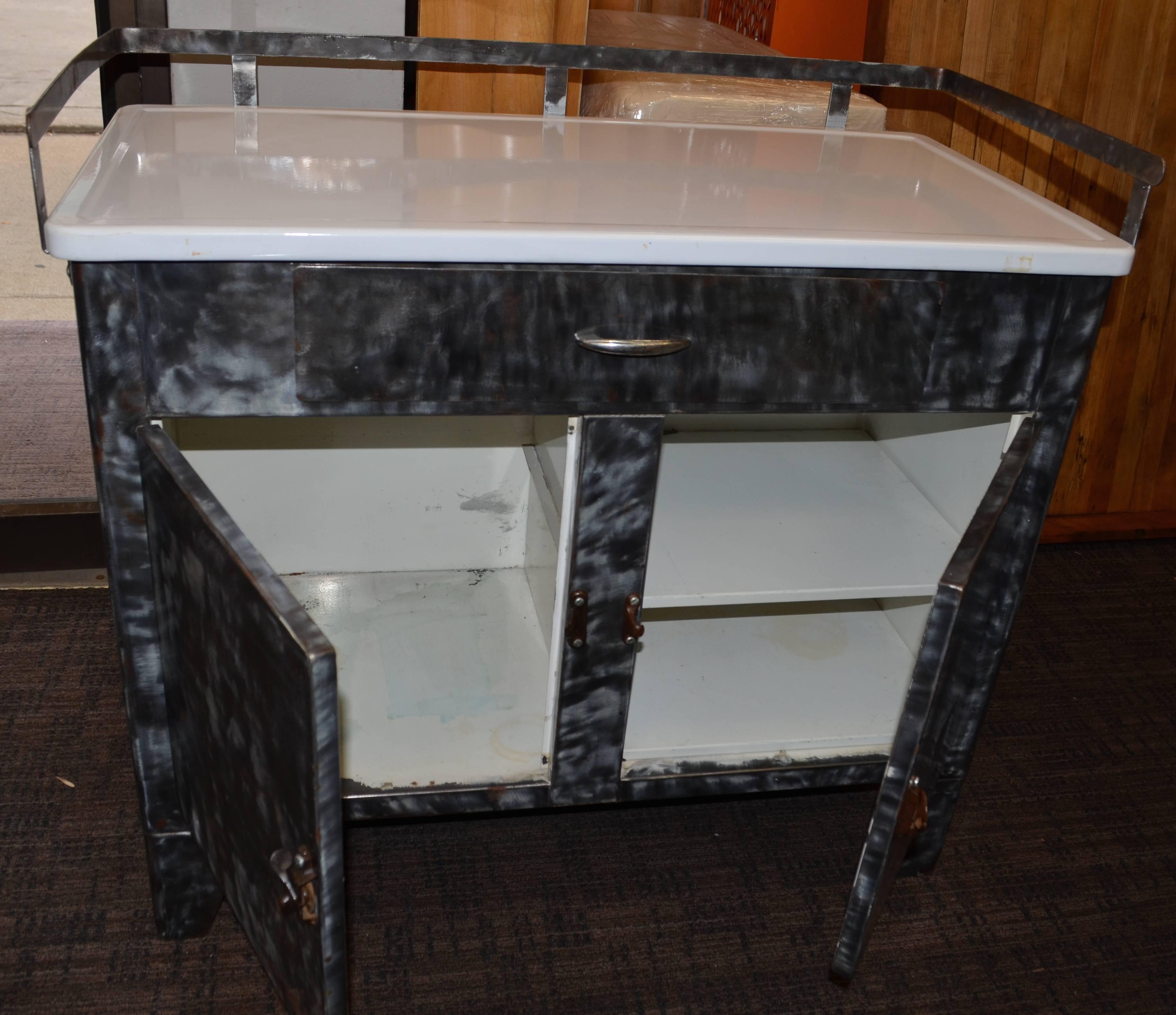Cabinet With Porcelain Top For Kitchen, Bath, Hallway, Entertainment Center  For Sale 2