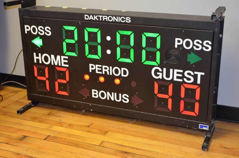 American Basketball Scoreboard from Daktronics For Sale