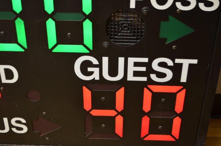 Late 20th Century Basketball Scoreboard from Daktronics For Sale
